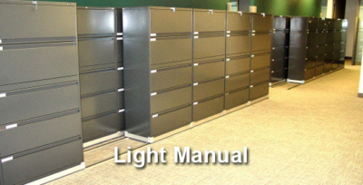 Light Manual Mobile Shelving Calgary