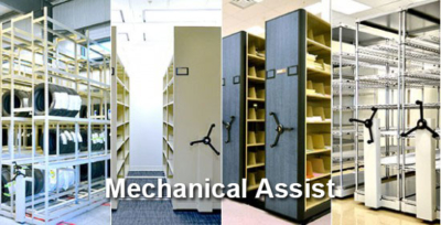 Mechanical Assist Mobile Shelving Calgary